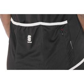 Sportful Pista Sleeveless Jersey Herre black/white-red